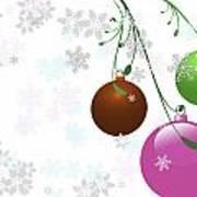 Christmas Bulbs Poster