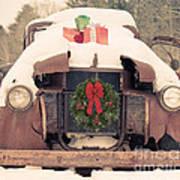Christmas Car Card Poster