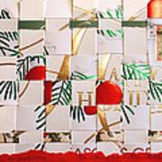 Christmas Card Abstract Poster