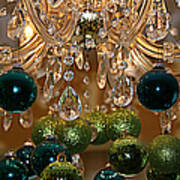 Christmas Chandelier Poster