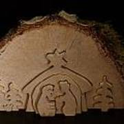 Christmas Crib. Nativity Scene Poster