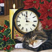 Christmas Eve Nap Poster