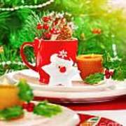 Christmas Eve Table Setting Poster