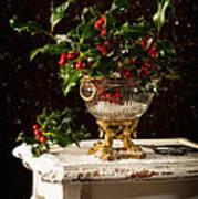 Christmas Holly Poster