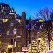 Christmas In Quebec Poster