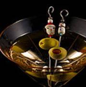 Christmas Martini Poster