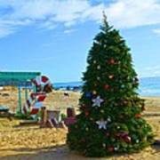 Christmas Om The Beach Poster