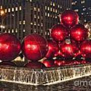 Christmas On 5th Avenue Manhattan 1 Poster