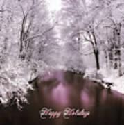 Christmas Pond Poster