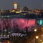Christmas Spirit At Niagara Falls Poster
