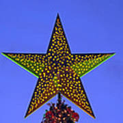 Christmas Star During Dusk Time Poster