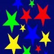 Christmas Stars wish you a Merry Christmas Poster