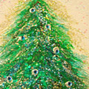 Christmas Tree Gold By Jrr Poster