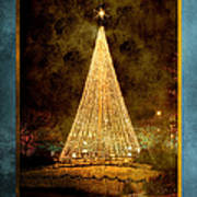 Christmas Tree In The City Poster by Cindy Singleton