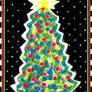 Christmas Tree Polkadots Poster