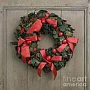 Christmas Wreath Poster by Bernard Jaubert