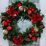 Christmas Wreath Greeting Card Poster