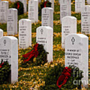 Christmas Wreaths Laid At The Arlington Cemetery Poster
