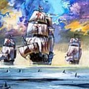 Christopher Columbus's Fleet  Poster