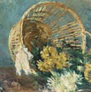 Chrysanthemums Or The Overturned Basket Poster