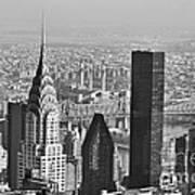 Chrysler Building New York Black And White Poster