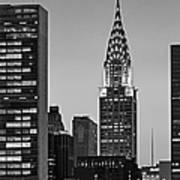 Chrysler Building New York City Bw Poster