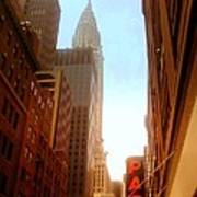 Chrysler Building Rises Above New York City Canyons Poster