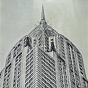 Chrysler Building Vintage Look Poster