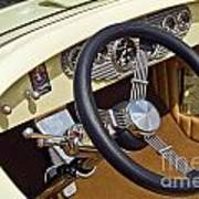 Chrysler Interior Steering Wheel Classic Car American Made Poster