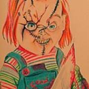 Chucky's Back Poster by Denisse Del Mar Guevara