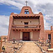 Church At San Ildefonso Poster