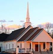 Church At Sunset Poster