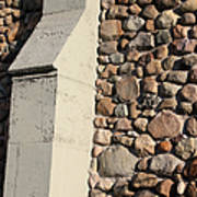 Church Buttress With Shadows Poster