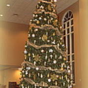 Church Christmas Tree Poster