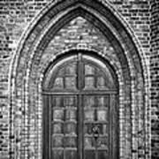 Church Door Monochromatic Poster by Antony McAulay