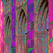 Church Doors Pop Art Poster