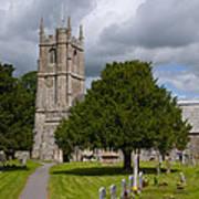 Church In Avebury Uk Poster