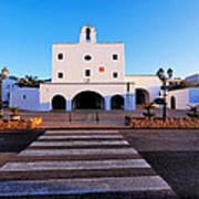 Church In Sant Josep Town On Ibiza Island Poster