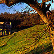 Church On A Landscape, Rievaulx Abbey Poster