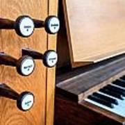 Church Organ Keyboard Poster