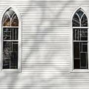 Church Windows With Tree Shadows Poster