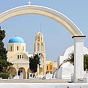 Churches Oia Santorini Greek Islands Poster