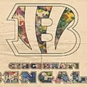 Cincinnati Bengals Logo Vintage Poster