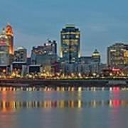 Cincinnati On The Riverfront Poster