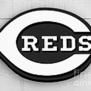 Cincinnati Reds Sign Black And White Picture Poster