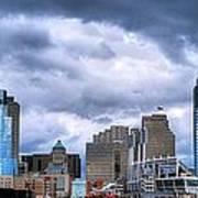 Cincinnati Skyline Clouds Poster by Mel Steinhauer