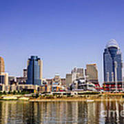 Cincinnati Skyline Riverfront Downtown Office Buildings Poster