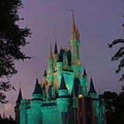 Cinderella Castle At Night  Poster