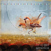 Cinnamon Sparrows Poster