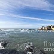 Cinque Terre And The Sea Poster